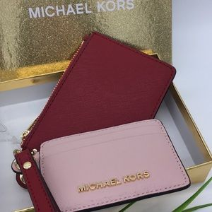 Michael Kors Giftables Sm Card Case Duo Leather